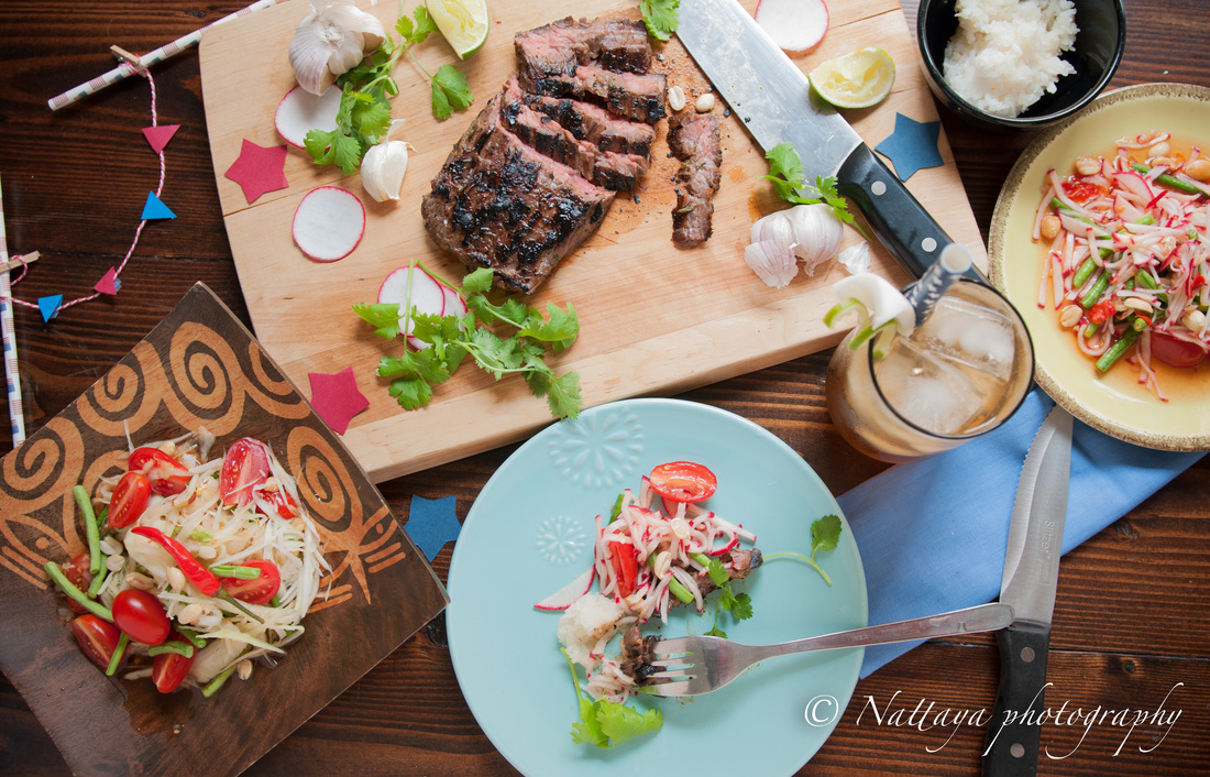 Grilled pan Asian Marinated Skirt Steak Recipe
