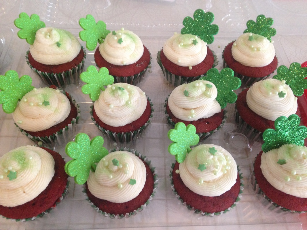 Red Red Velvet cupcake: St. Patrick's day decoration Idea