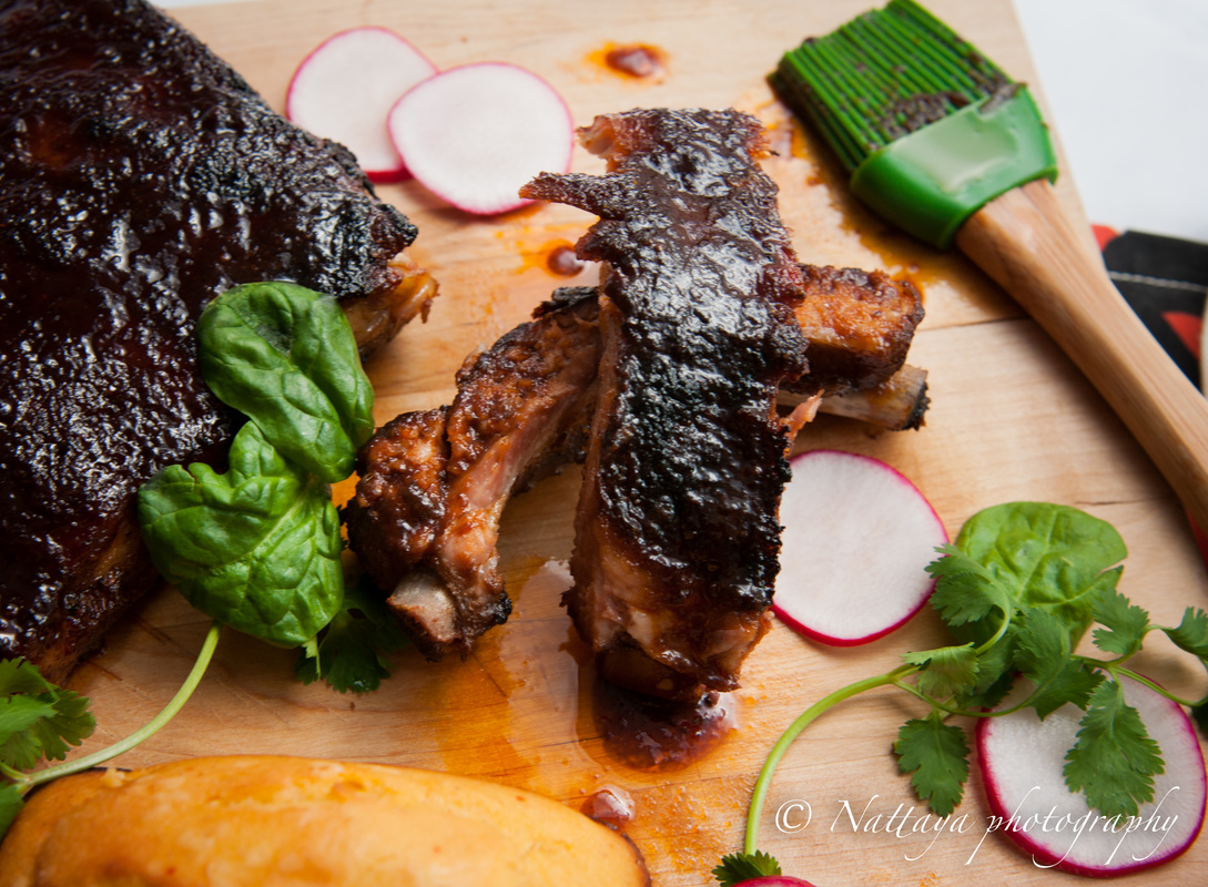Roasted Barbecue Ribs with smoky spicy Coffee Dry Rub (Oven)