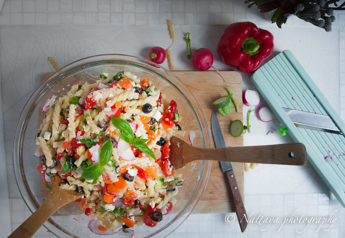 The End Of Summer Greek Pasta Salad Recipe