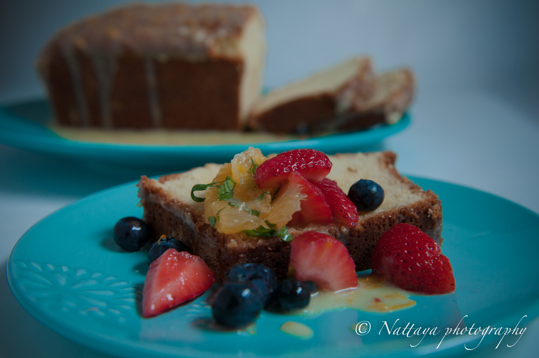 Pound Cake With Fruit Compote