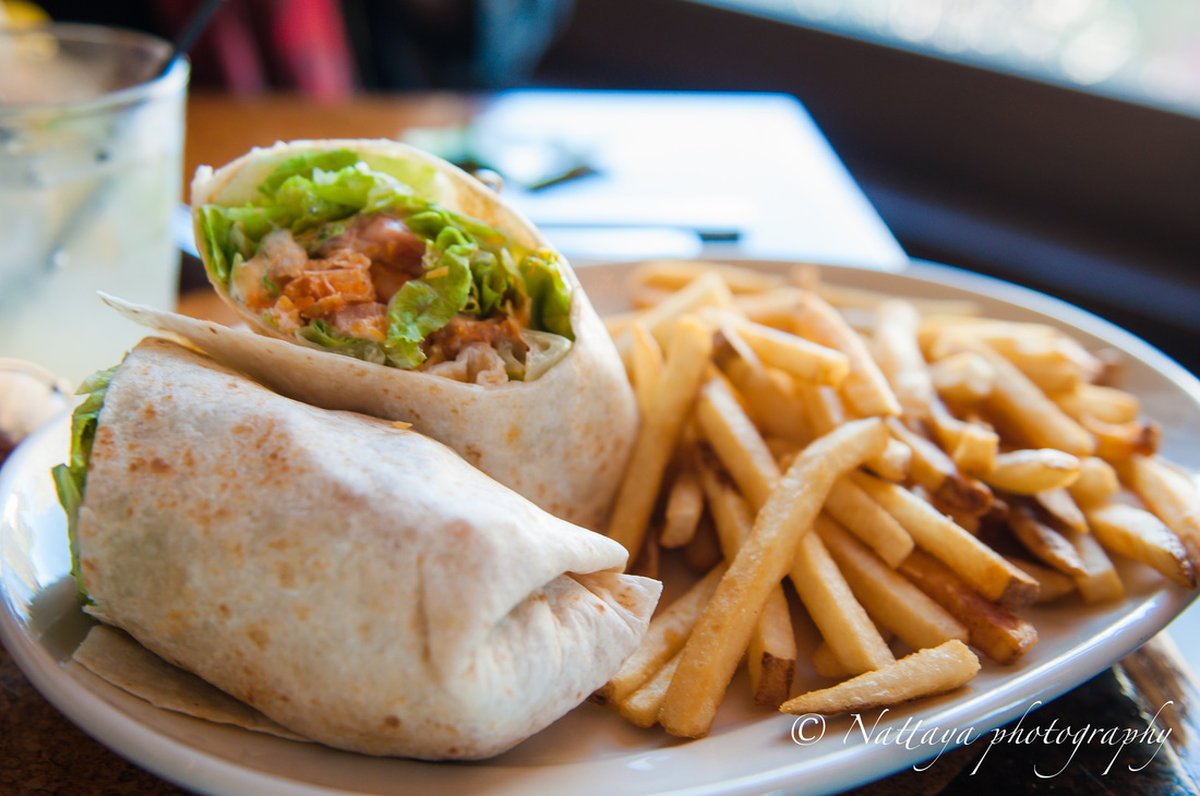 The Stray Dog Bar & Grill , Chicken Caesar Wrap