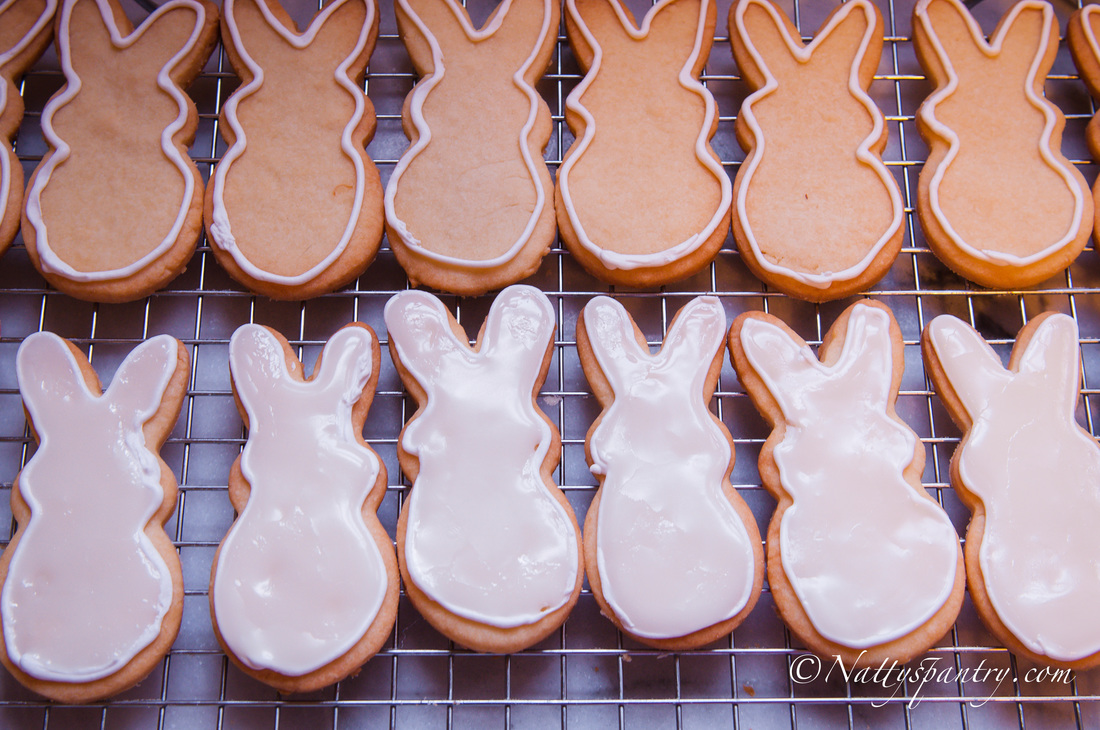 Yuzu Lemon Glazed Bunny Butter Cookie Recipe : Nattyspantry.com