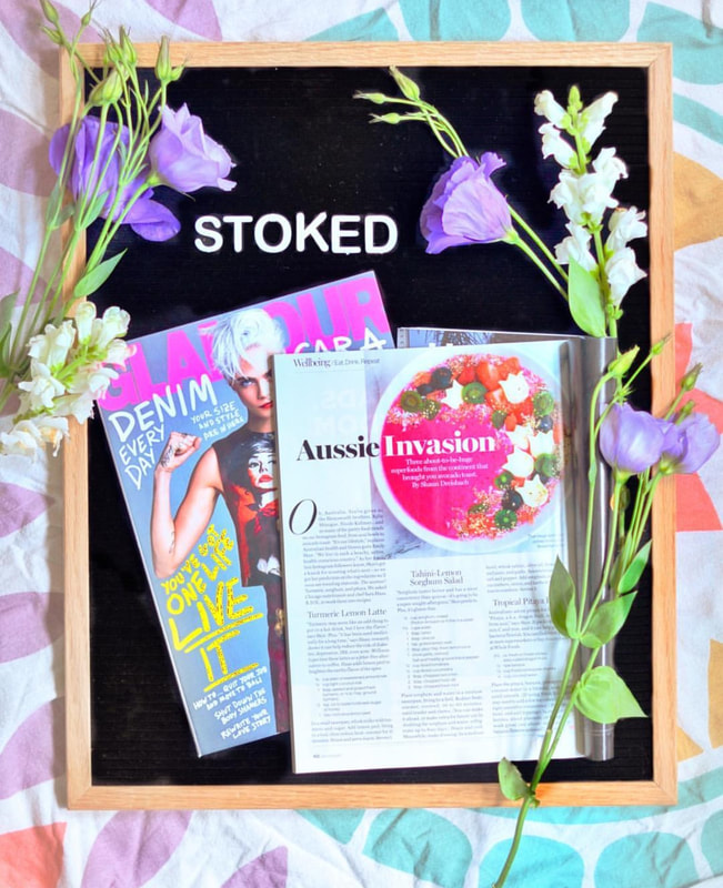 Pink love of blossoms bowl have been featured on Glamour magazine