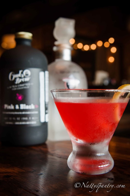 Nattyspantry with VodQuila, Savile and Owl's Brew :  Pinkelicious Tini Recipe
