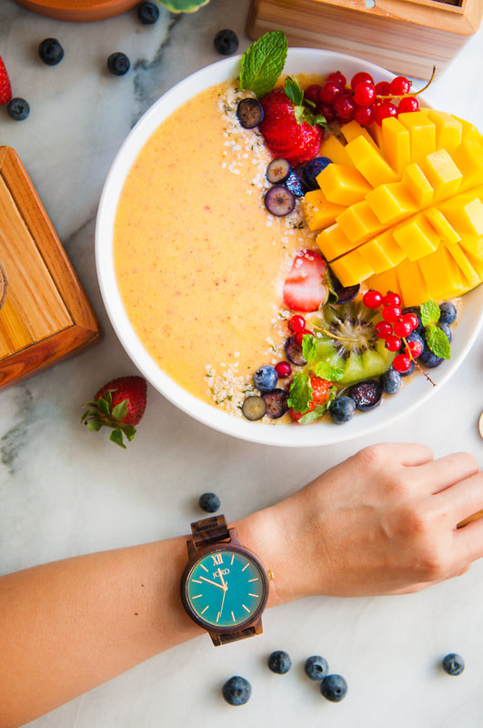 Nattyspantry With Jord Watch :  Tropical Mango, Banana And Nectarine Smoothie Bowl Recipe